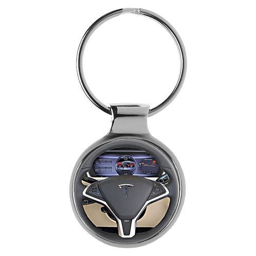 Geschenk für Tesla S Fans Cockpit Schlüsselanhänger 20629