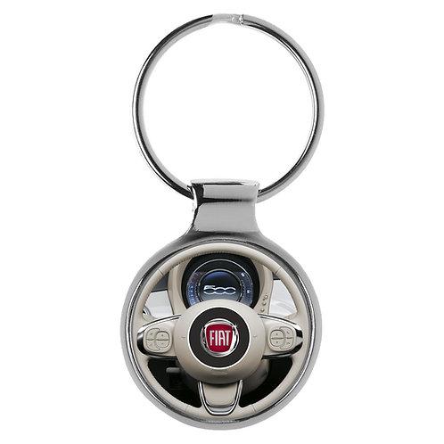 Fiat 500 Fans Cockpit Schlüsselanhänger Key Chain Ring A-20767