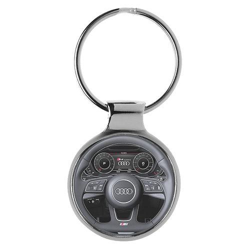 Geschenk für Audi S4 Quattro Fans Cockpit Schlüsselanhänger 10023