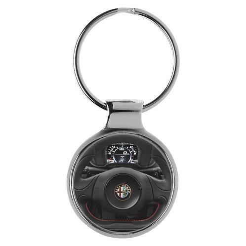 Geschenk für Alfa Romeo Fans 4C Cockpit Schlüsselanhänger 20642