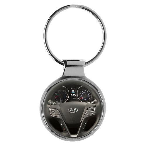 Geschenk für Hyundai Santa Fee Fans Cockpit Schlüsselanhänger 20591
