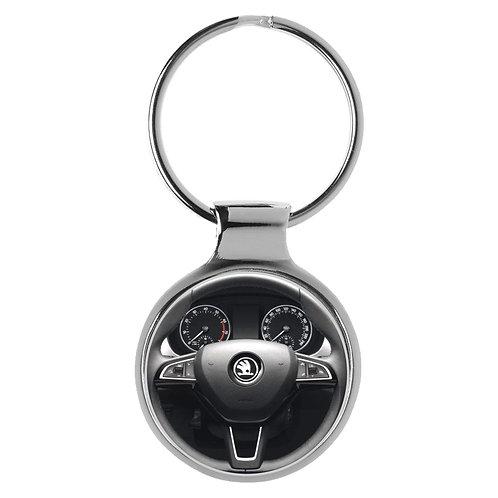Geschenk für Skoda Fabia Fans Cockpit Schlüsselanhänger 20931