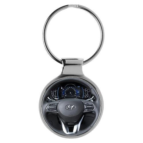 Geschenk für Hyundai Santa Fee Fans Cockpit Schlüsselanhänger 20756