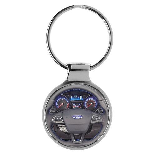 Geschenk für Ford Focus RS Fans Cockpit Schlüsselanhänger 20817