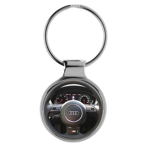 Geschenk für Audi A6 Fans Cockpit Schlüsselanhänger 20786