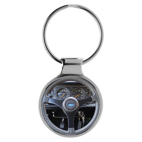 Geschenk für Ford Capri 3 Fans Cockpit Schlüsselanhänger 20752