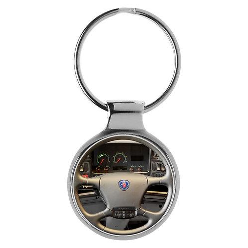 Geschenk für Scania R500 Fans Cockpit Schlüsselanhänger 20933