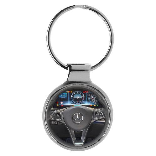 Geschenk für Mercedes E-Klasse Fans Cockpit Schlüsselanhänger 20849