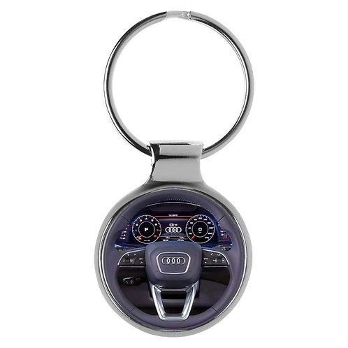 Geschenk für Audi Q7 Fans Cockpit Schlüsselanhänger 10125