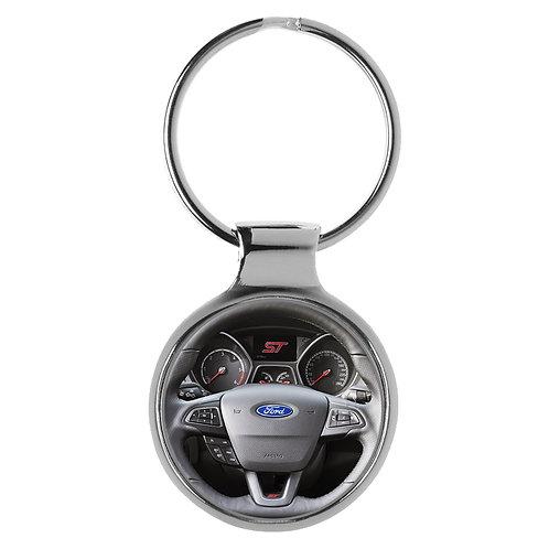 Geschenk für Ford Focus ST Fans Cockpit Schlüsselanhänger 20812