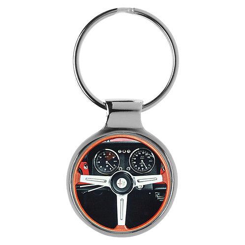 Geschenk für Alfa Romeo Spider Fans Cockpit Schlüsselanhänger 20796