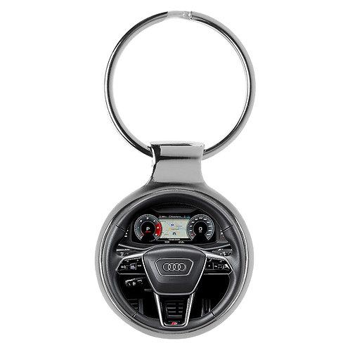 Geschenk für Audi S6 Fans Cockpit Schlüsselanhänger 20838