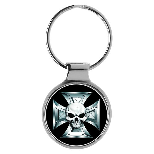 Eisernes Kreuz Skull Totenkopf Schlüsselanhänger 9596