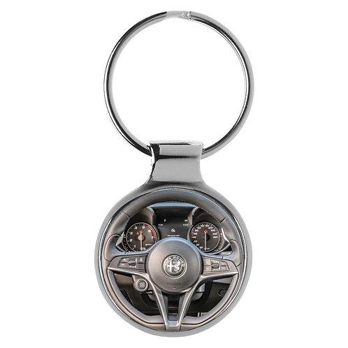 Geschenk für Alfa Romeo Giulia Fans Cockpit Schlüsselanhänger 20808