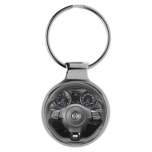 Geschenk für VW Golf 6R Fans Cockpit Schlüsselanhänger 10128