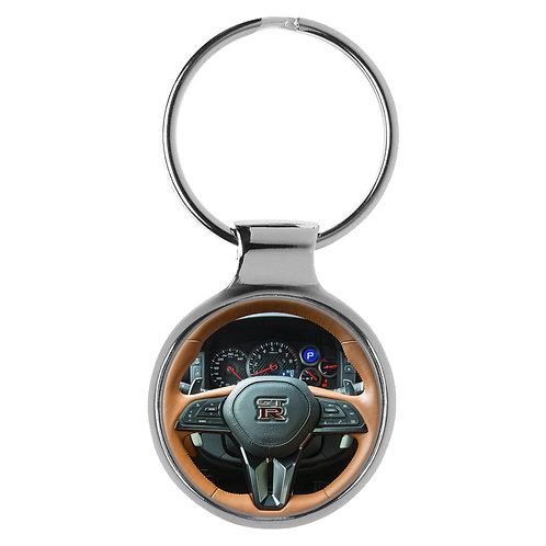 Geschenk für Nissan GTR Fans Cockpit Schlüsselanhänger 20770