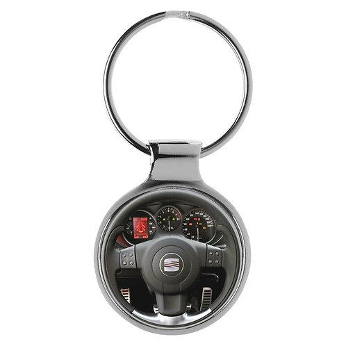 Geschenk für Seat Leon Linea Fans Cockpit Schlüsselanhänger 20875