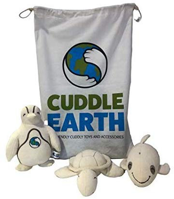Organic Soft Toy Bundle - Eco-Friendly Cuddly Toys, Book, Bamboo Bag