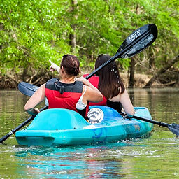 Two is company! Tag your kayaking buddy.