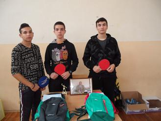 """Участие на ученици от ПГТМ """"Христо Ботев"""" в турнир по тенис на маса"""