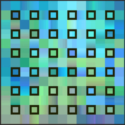 Pixels Square Turquoise