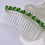 Thumbnail: green pearl and crystal hair comb