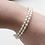 Thumbnail: ivory freshwater rice pearl silver coil bracelet