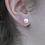 Thumbnail: 9mm ivory freshwater pearl silver stud earrings