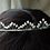 Thumbnail: ivory rice pearl bridal tiara, flat fan design