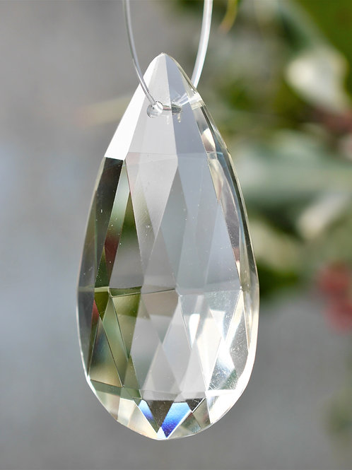 large teardrop crystal tree decoration