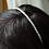 Thumbnail: tiny ivory rice pearl wedding headband tiara