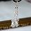 Thumbnail: clear AB crystal & ivory pearl earrings