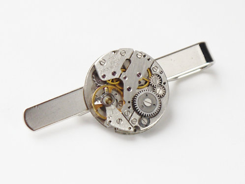 large round watch mechanism tie slide