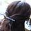 Thumbnail: light blue pearl and crystal hair barrette clip
