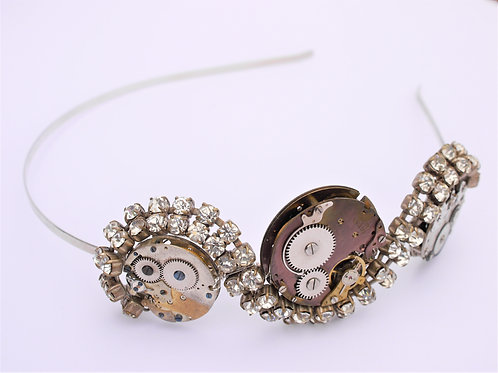 steampunk vintage watch mechanisms side tiara