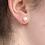Thumbnail: 8mm peach pearl sterling silver stud earrings