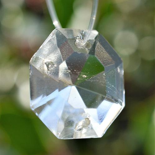 small cushion cut crystal tree decoration