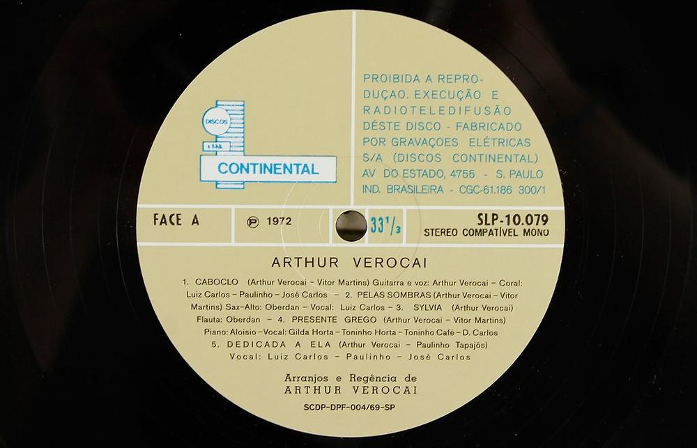 Disco do Arthur Verocai que em qualquer destes estados é disputadíssimo.