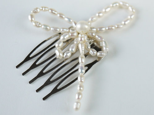 freshwater pearl dragonfly hair comb