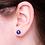 Thumbnail: blue pearl sterling silver stud earrings 8mm