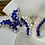 Thumbnail: pearl and crystal silver butterfly brooch