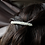 Thumbnail: tiny freshwater pearls silver hair barrette