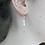 Thumbnail: delicate freshwater rice pearl hook earrings
