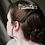 Thumbnail: ivory rice pearl 'fern leaves' silver hair comb