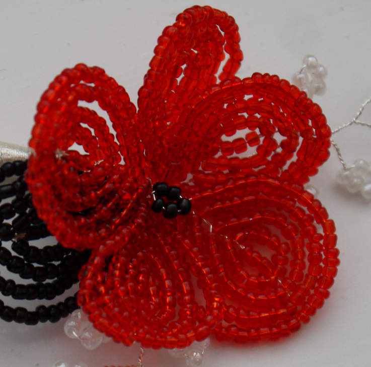red round flower