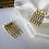 Thumbnail: pair of small freshwater pearl hair combs