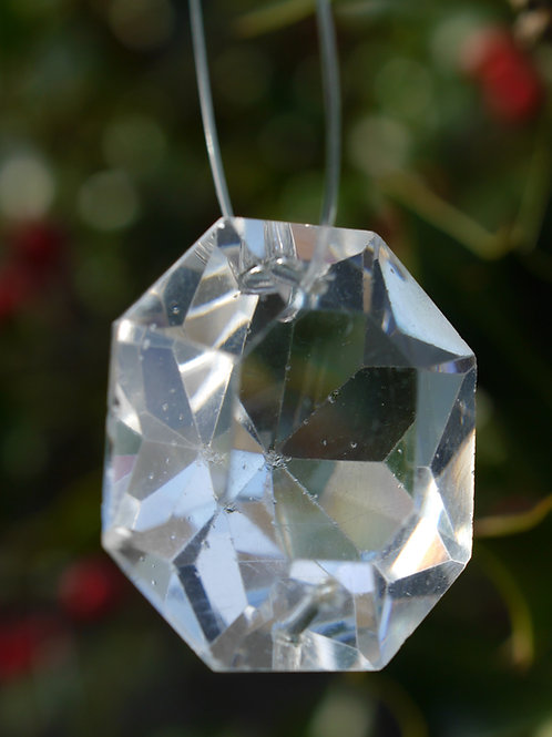 medium cushion cut crystal tree decoration