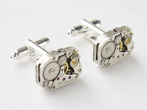 medium oblong watch mechanism cufflinks