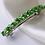 Thumbnail: green pearl and crystal hair barrette clip