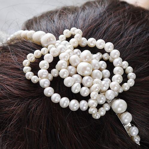 celtic knot ivory pearl silver bridal tiara